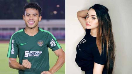 Nurhidayat Haji Haris (Pemain Timnas Indonesia) dan Sarah Ahmad. - INDOSPORT
