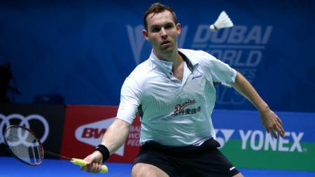 Pemain badminton Denmark, Mads Conrad-Petersen. - INDOSPORT