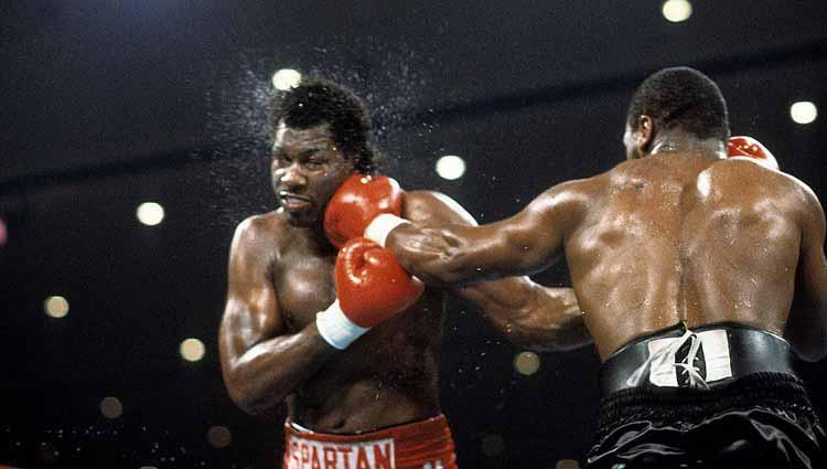 Mike Tyson vs Tony Tucker. Copyright: The Ring Magazine via Getty Images