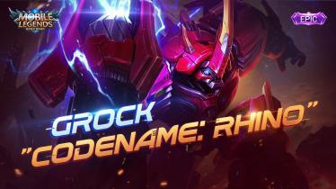 Skin terbaru Grock, Rhino, yang sempat menjadi hero populer di ajang M1 2019 silam. - INDOSPORT