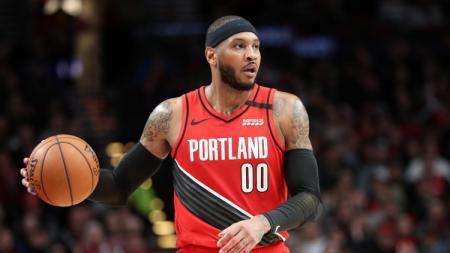 Tim NBA Golden State Warriors dikabarkan sudah menyatakan minat untuk merekrut bintang veteran Carmelo Anthony di musim depan. - INDOSPORT