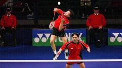 Indosport - Dijamin susah bikin mata kedip, inilah duel panas pasangan Indonesia, Candra Wijaya/Sigit Budiarto kontra pasangan China, Cai Yun/Fu Haifeng.