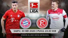 Indosport - Prediksi pertandingan antara Bayern Munchen vs Fortuna Duesseldorf akan menjadi sebuah laga hiburan bagi calon juara Bundesliga Jerman 2019-2020.