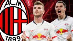 Indosport - Werner dan Sabitzer, Siapa Bomber Leipzig yang Lebih Dibutuhkan AC Milan