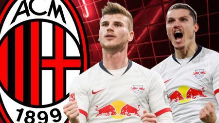 Werner dan Sabitzer, Siapa Bomber Leipzig yang Lebih Dibutuhkan AC Milan - INDOSPORT