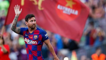 Lionel Messi begitu tidak sabar ingin kembali merumput di LaLiga Spanyol yang akan segera dimulai pada tanggal 12 Juni 2020 mendatang. - INDOSPORT