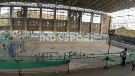 Tiga venue yang diperuntukkan pada perhelatan Pekan Olahraga Nasional (PON) XX di Papua tahun 2021 mendatang sudah mendekati rampung. - INDOSPORT