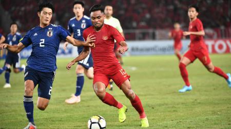 Saddil Ramdani ketika membela Timnas Indonesia U-19 vs Jepang U-19 di perempatfinal Piala Asia U-19 - INDOSPORT