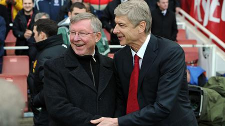Sir Alex Ferguson dan Arsene Wenger - INDOSPORT
