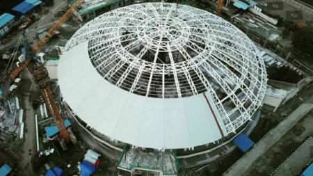 Venue Istora Papua Bangkit tampak dari atas. - INDOSPORT