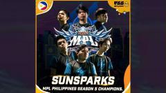 Indosport - Sunsparks keluar sebagai juara MPL Filipina season 5.