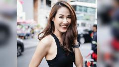 Indosport - Selebgram asal Thailand, Tanaporn Sangkaew, rajin bersepeda.