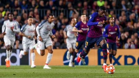 Ousmane Dembele di laga Liga Champions Barcelona vs Liverpool - INDOSPORT