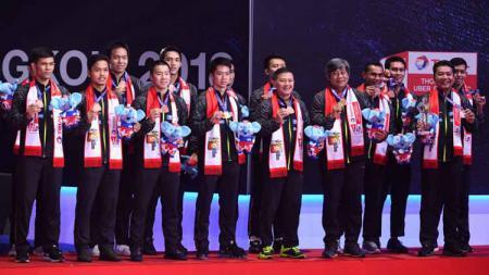 Pada kejuaraan Thomas Cup 2018 Indonesia mendapatkan medali perunggu yang diadakan di Impact Arena (27/05/2018) Bangkok, Thailand. - INDOSPORT