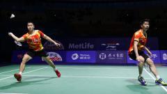 Indosport - Kevin Sanjaya Sukamuljo/Marcus Fernaldi Gideon di China Open 2016.