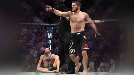 Petarung Ultimate Fighting Championship (UFC), Justin Gaethje yakin bahwa Conor McGregor tak bakal mau berhadapan dengan Khabib Nurmagomedov lagi. - INDOSPORT