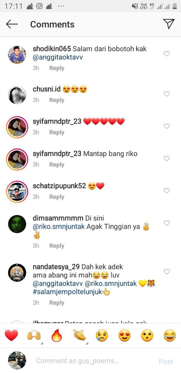Anggita Oktaviani dibilang kakak beradik dengan pemain Persija Riko Simanjuntak Copyright: Instagram//Anggita Oktaviani