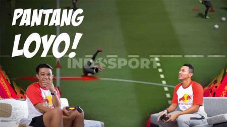 Dua tokoh Timnas Indonesia, Beny Wahyudi dan Dendi Santoso beradu skill sepak bola virtual di sebuah tantangan video game menarik. - INDOSPORT