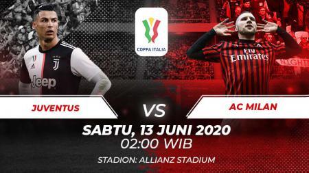 Berikut adalah link live streaming pertandingan semifinal Coppa Italia antara Juventus vs AC Milan. - INDOSPORT