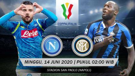 Berikut adalah link live streaming pertandingan semifinal Coppa Italia antara Napoli vs Inter Milan. - INDOSPORT