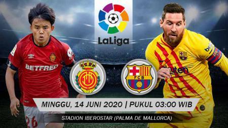 Link live streaming pertandingan pekan ke-28 LaLiga Spanyol antara Real Mallorca vs Barcelona, Minggu (14/06/20) dini hari WIB. - INDOSPORT