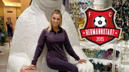 Pemilik klub Liga Primer Rumania FC Hermannstadt Anamaria Prodan. - INDOSPORT