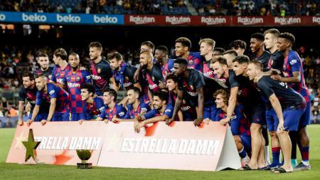 Relakan salah satu bintangnya bisa buat raksasa LaLiga Spanyol, Barcelona serupa dengan AC Milan. - INDOSPORT