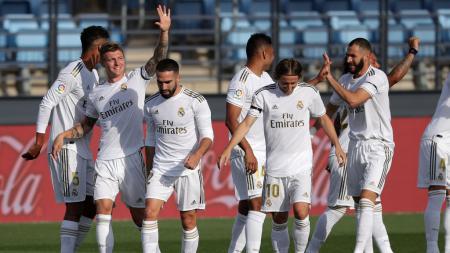 Selama menjalani beberapa pertandingan terakhir LaLiga Spanyol, Real Madrid ternyata memiliki 5 bintang sakral yang kerap turun dalam susunan pemain Zinedine Zidane. - INDOSPORT