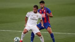 Indosport - Mulai ikut sesi latihan jelang LaLiga Spanyol 2020/21, bintang Real Madrid Eden Hazard dilaporkan mengalami kegendutan.