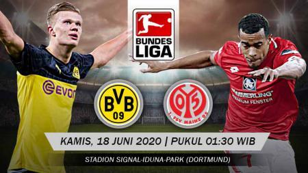 Pertandingan Borussia Dortmund vs Mainz 05 di pekan ke-32 Bundesliga Jeman 2019/20 diprediksi akan berakhir mudah buat tuan rumah, Kamis (18/06/20). - INDOSPORT
