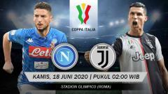 Indosport - Prediksi pertandingan final Coppa Italia 2019-2020 antara Napoli vs Juventus.