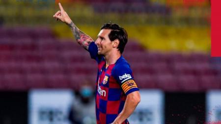 Gol rekor ke-700 buat Lionel Messi masih mendominasi top skor LaLiga Spanyol sementara. - INDOSPORT
