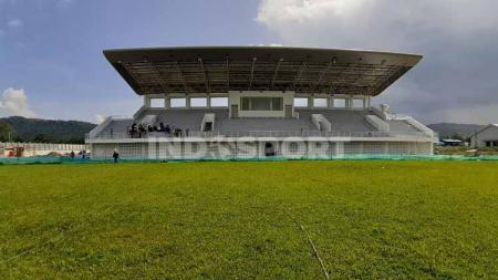 Pembangunan venue cabang olahraga kriket untuk PON XX kini menunggu sertifikasi. - INDOSPORT