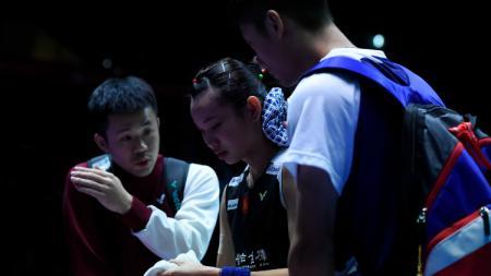 Pebulutangkis Taiwan, Tai Tzu Ying bersama sang pelatih, Lai Chien Cheng. - INDOSPORT