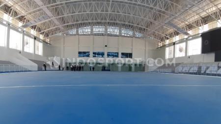 Venue Hoki Indoor untuk PON XX Papua yang pembangunannya sudah rampung. - INDOSPORT