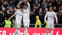 Indosport - Luka Jovic, Casemiro, dan Lucas Vazquez