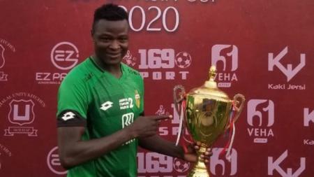 Penyerang Bhayangkara FC, Ezechiel N Douassel. - INDOSPORT