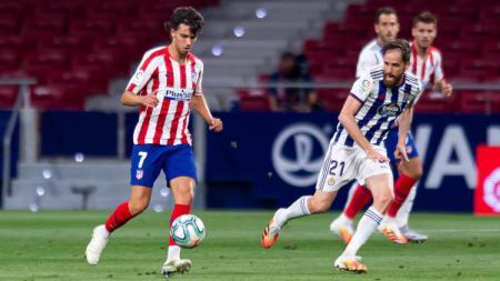 Hasil pertandingan LaLiga Spanyol antara Atletico Madrid vs Real Valladolid pada Minggu (21/06/20) dini hari memperlihatkan kemenangan tipis Los Rojiblancos. - INDOSPORT