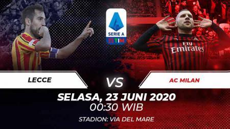 Berikut prediksi pertandingan antara Lecce vs AC Milan dalam lanjutan Serie A Italia pekan ke-27, Selasa (23/06/20) dini hari WIB. - INDOSPORT