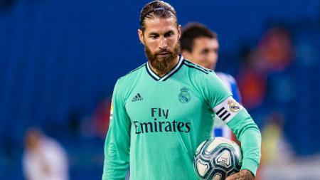 Sergio Ramos di laga Real Sociedad vs Real Madrid. - INDOSPORT
