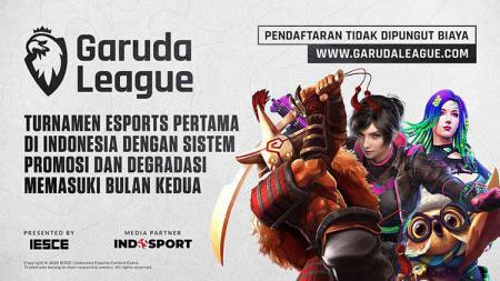 Garuda League adalah kompetisi esports jangka panjang berskala besar pertama di Indonesia dengan sistem promosi dan degradasi dari 3 divisi. - INDOSPORT