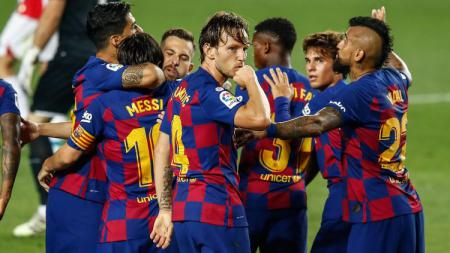 Dibuang ke Sevilla dan akhirnya bertemu lagi dengan Barcelona di laga lanjutan Copa del Rey, begini aksi Ivan Rakitic ketika cetak gol. - INDOSPORT