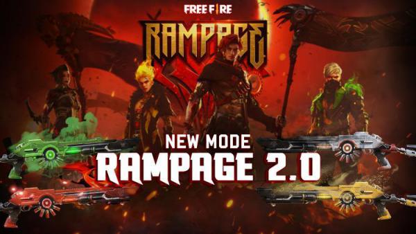 Free Fire Tambahkan Mode Rampage 2.0, Begini Keung