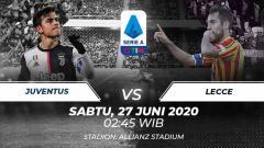 Indosport - Berikut link live streaming pertandingan Serie A 2019/20 antara Juventus vs Lecce, Sabtu (27/06/20) dini hari WIB.