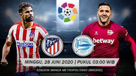 Prediksi pertandingan LaLiga Spanyol pekan ke-32 antara Atletico Madrid vs Deportivo Alaves. - INDOSPORT