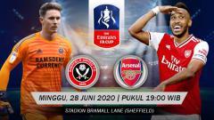 Indosport - Link live streaming Pertandingan Sheffield United vs Arsenal (FA Cup).