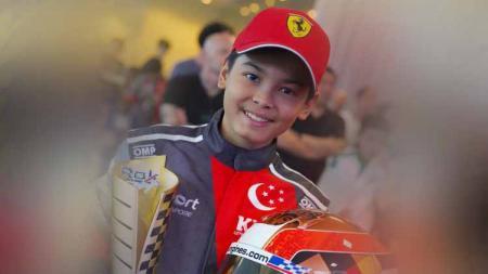 Pembalap gokart muda asal Indonesia, Gael Julien bakal menjajal kejuaraan Formula 4 (F4) Prancis pada musim 2021 mendatang - INDOSPORT