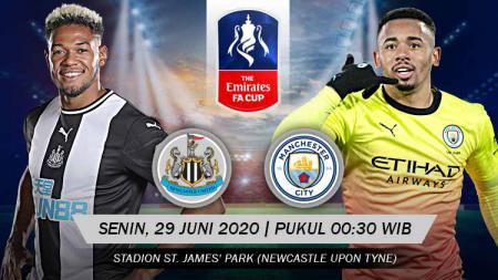 Link live streaming pertandingan Newcastle United vs Manchester City (FA Cup). - INDOSPORT
