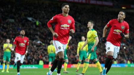 Marcus Rashford di laga Manchester United vs Norwich City. - INDOSPORT