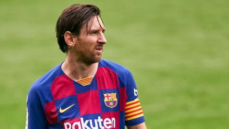 Mandul saat Barcelona bekuk Real Valladolid, Minggu (12/07/20) dini hari WIB, posisi Lionel Messi di daftar top skor LaLiga Spanyol terancam Karim Benzema. - INDOSPORT